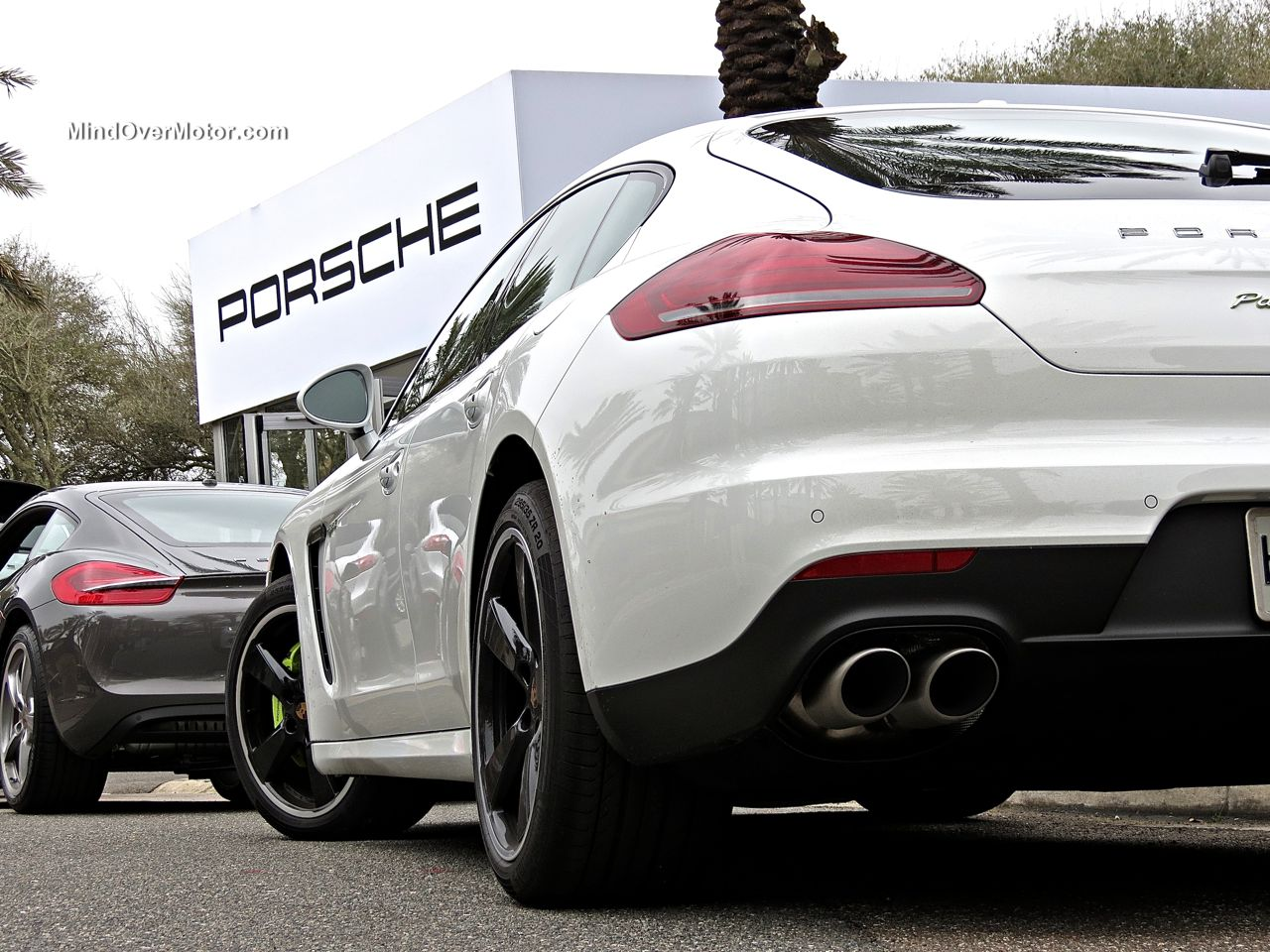 White Porsche Panamera S E-Hybrid LED Tail Lights