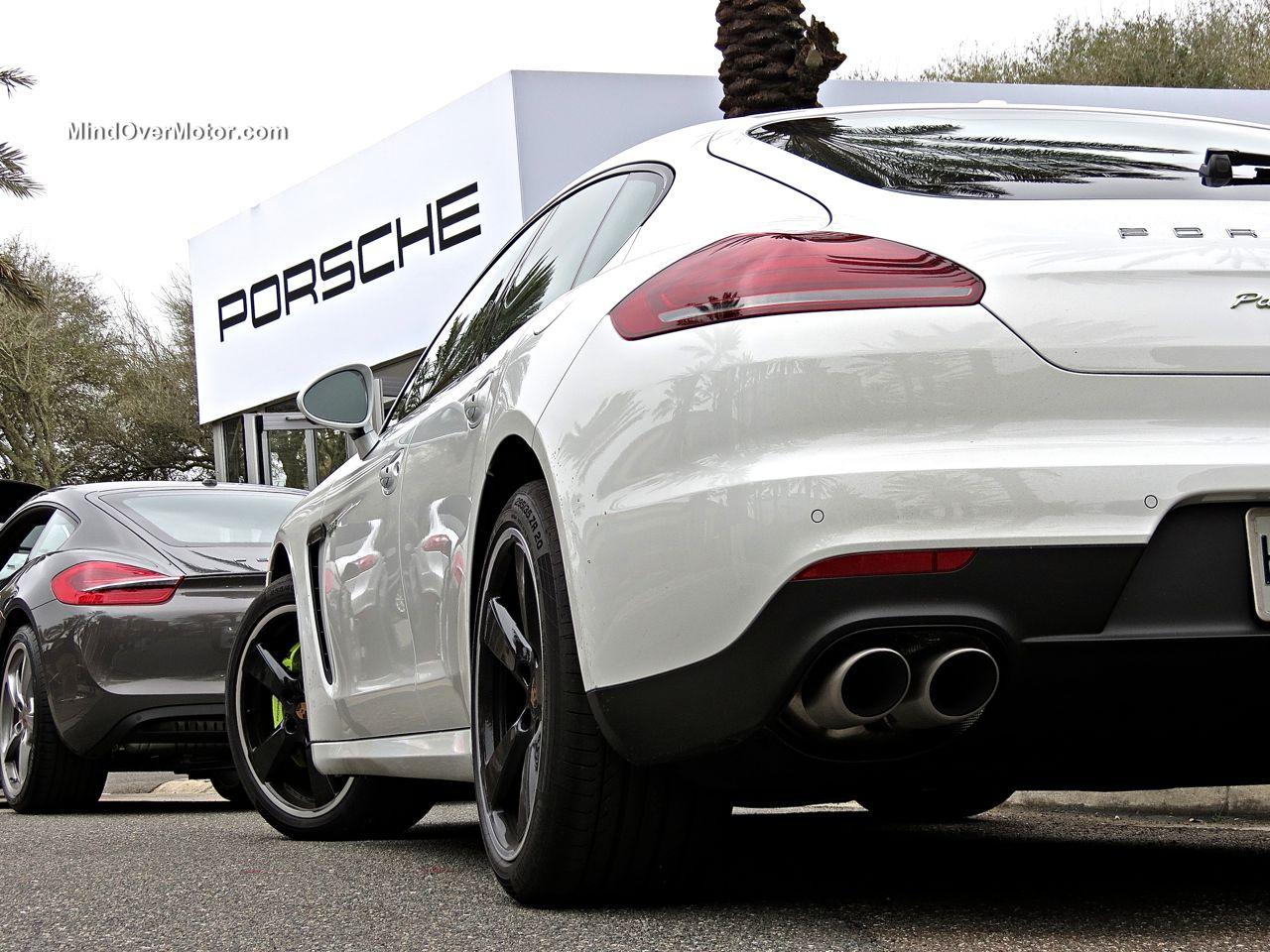 White Porsche Panamera S E-Hybrid LED Tail Lights