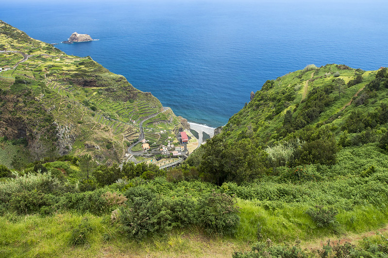 View on Ribeira da Janela - Madeira