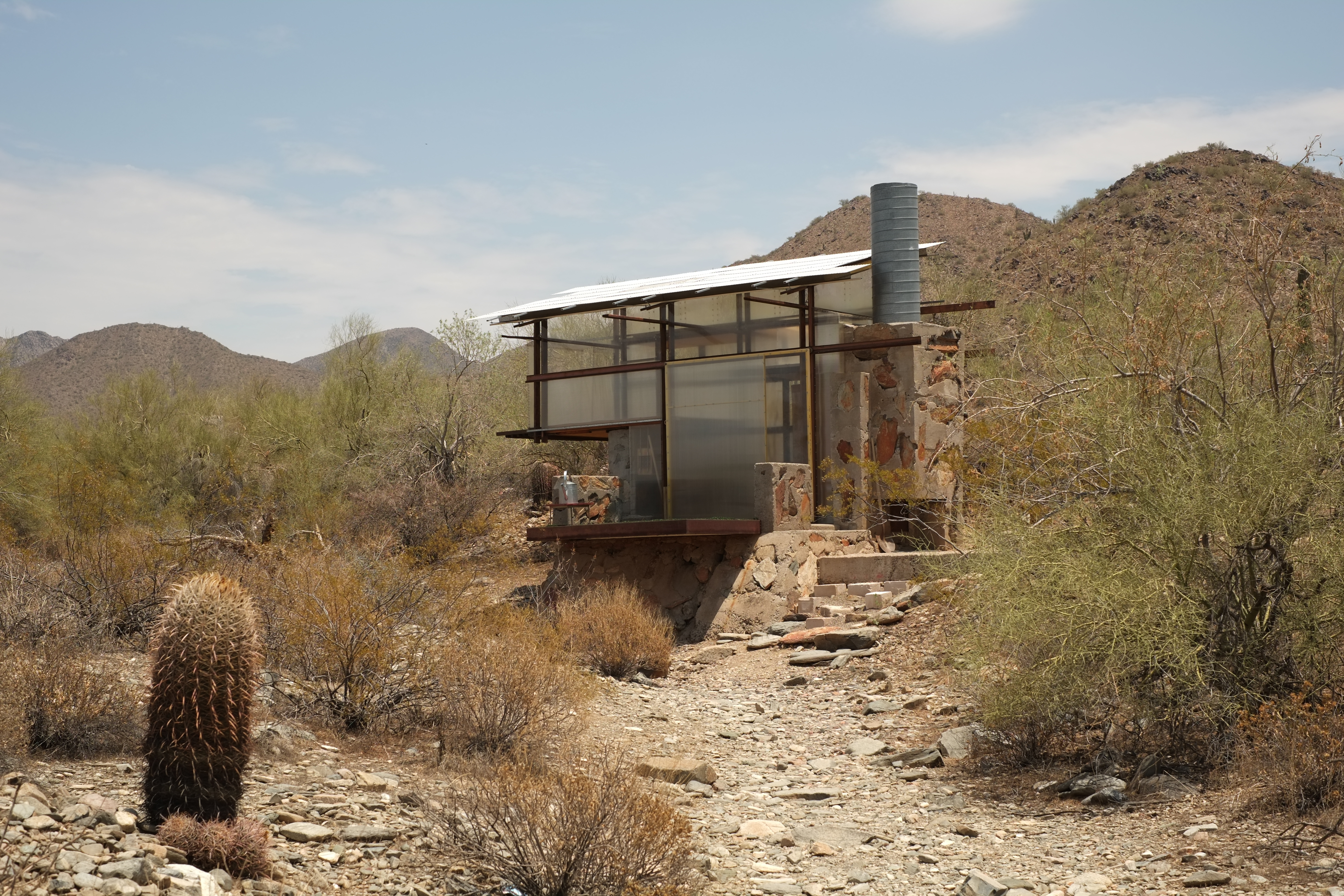 traslucent tiny house in the desert of arizona (within ...
