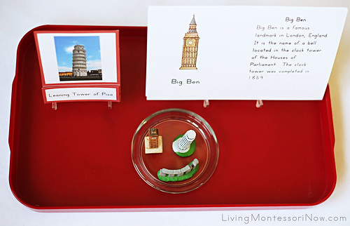 Tray for Introducing European Landmarks