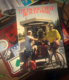 "Received in the mail: A copy of ""The Pacific Crest Bicycle Trail""!"