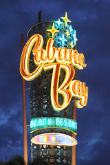 Cabana Bay Resort Sign