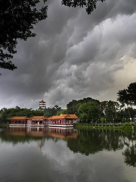 Dark clouds over Chinese Gardens