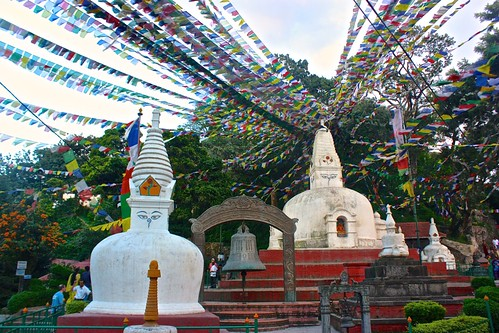 the temples below Monkey Temple may have had more prayer flags