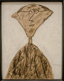 Jouhandeau aux lunettes - Jean Dubuffet - août 1946