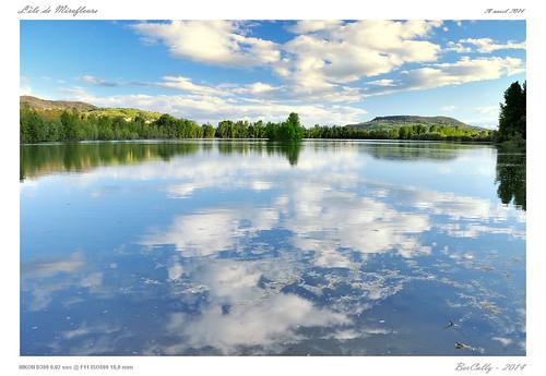 sky france water clouds landscape google eau ciel nuages paysage reflexion auvergne flicker etang puydedome bercolly mirefleurs