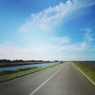 Canali e laguna... Guidare in mezzo all'acqua #Comacchio #laguna #giriingiro #viaggioinromagna  #ig_emiliaromagna #igersemiliaromagna #comacchio #mare #sea #ilmarecheamo