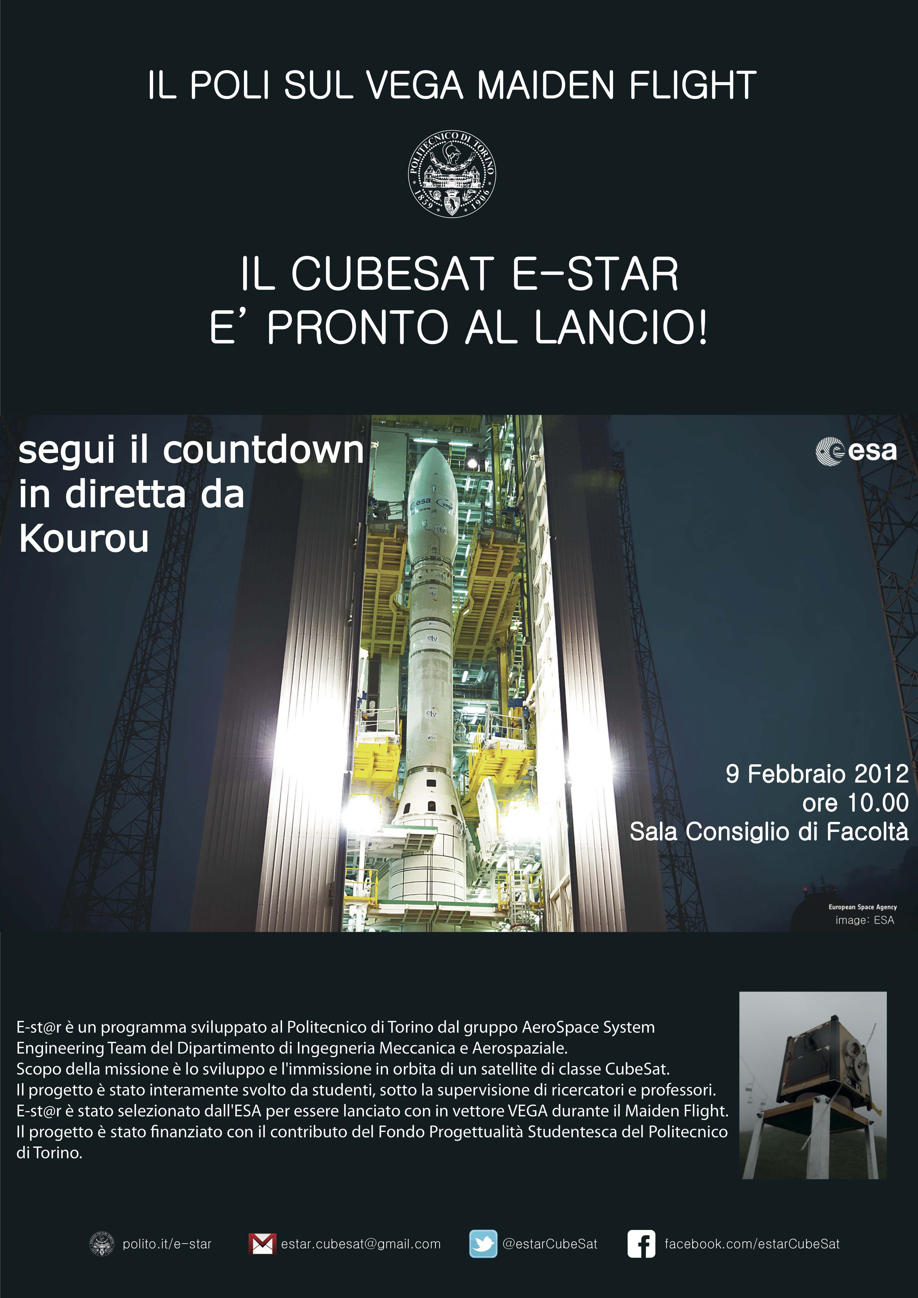 Flier of the event held at Politecnico di Torino
