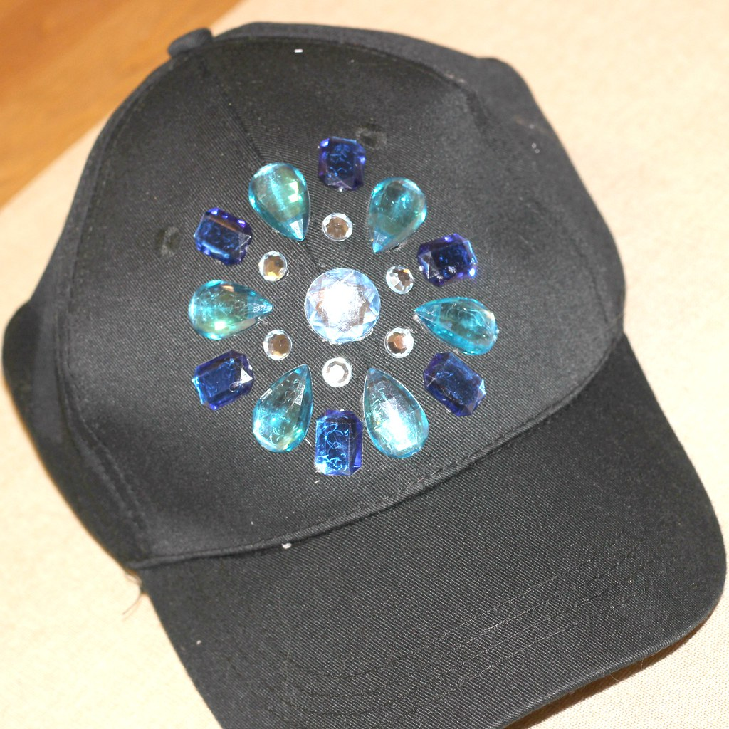 DIY Rhinestone Baseball Hat 4