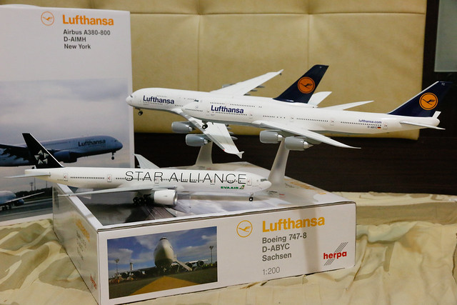Lufthansa 747-8i + A380 + EVA Airways 777-300ER