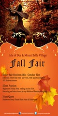 Isle of Dee Fall Fair Poster