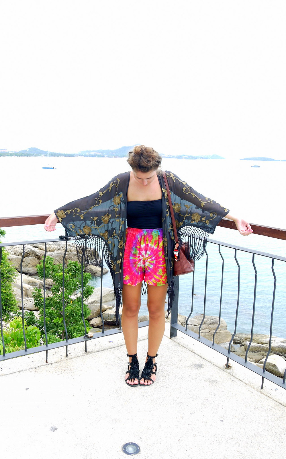 Kimono // Tie Dye Shorts - Kirsty Wears Blog