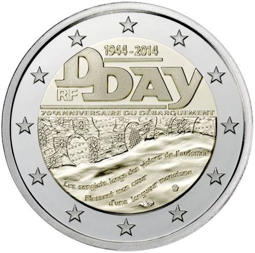 2 Euro Francúzsko 2014, Deň D