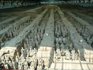 Guerreros de terracota de Xian.