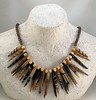 Spiked Necklace - needle & wet felting