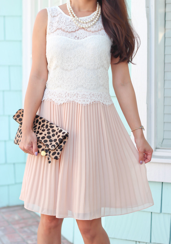 Forever 21 Lace Pleated Dress and Leopard-9