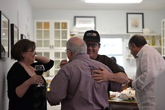 September Chef Surprise dinner guests mingle at RecipeHouse before a meal by chef Jonathan Levine