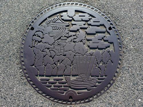 Okazaki Aichi, manhole cover 3 (愛知県岡崎市のマンホール3)