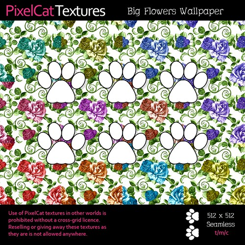 PixelCat Textures - Big Flowers Wallpaper