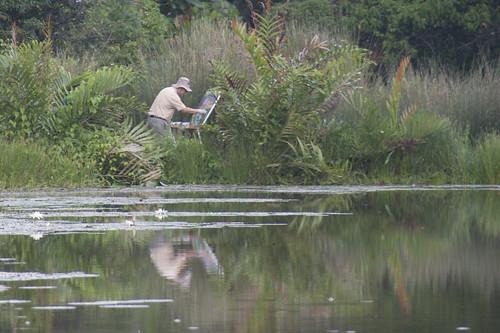 Artist on Pulau Ubin