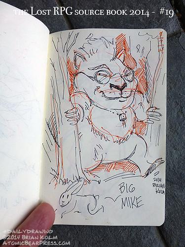 09-07-2014 #dailydrawing #lostRPG Big Mike