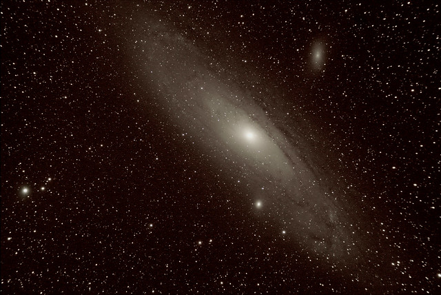 M31 Andromeda Galaxy with M32 and M110