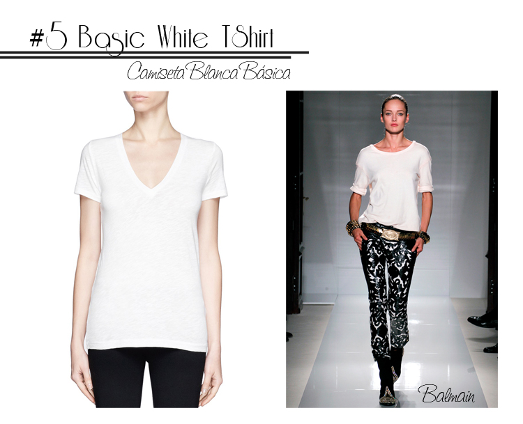 5 White Tshirt