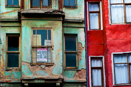 weathered facades
