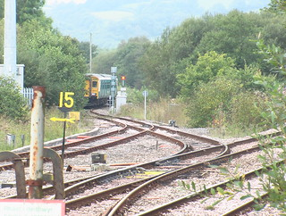 Class 150 approaching Whitland from the Pembroke Dock branch