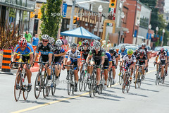 Gruppo compacto on the finish straight, Erie St.