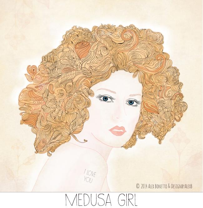 Medusa-Girl--illustrazione-ragazza-art print