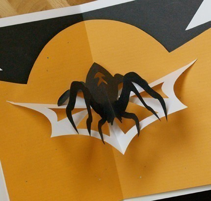 kirigami-spider-card