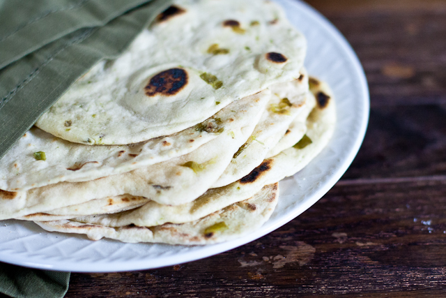 Homemade Hatch Chile Tortillas