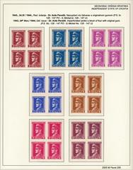 Stamps Croatia NDH Ante Pavelić