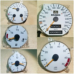 #For#Sale#Used#Parts#Mercedes#Benz#OEM#R129#SLClass#alyehliparts#alyehli#UAE#AbuDhabi#AlFalah#City  For Sale Mercedes Benz OEM R129 SL Class Used Parts - R129 BRABUS Speedometer Cluster -  White Gauges - (73972) KM on the clock  Price :   1000-/AED Price