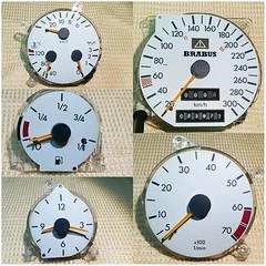 #For#Sale#Used#Parts#Mercedes#Benz#OEM#R129#SLClass#alyehliparts#alyehli#UAE#AbuDhabi#AlFalah#City  For Sale Mercedes Benz OEM R129 SL Class Used Parts - R129 BRABUS Speedometer Cluster -  White Gauges - (73972) KM on the clock  Price :   1000-/AED Price