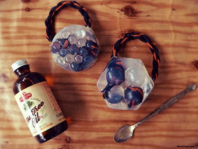 DIY Tea Tree Oil Soap on a Rope