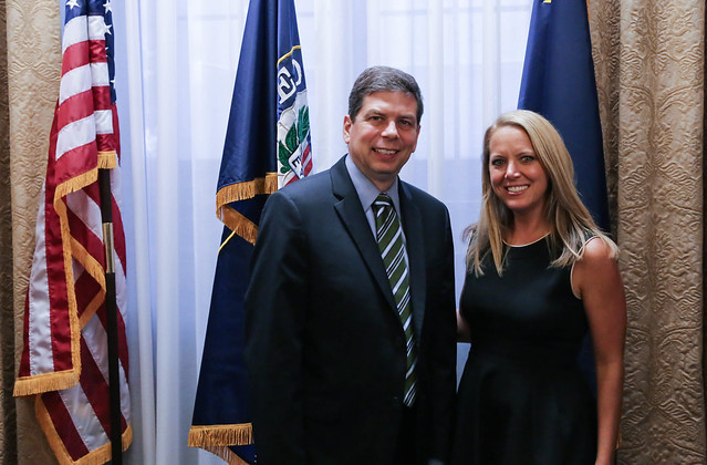 Senator Begich meets with Food Network star, Melissa d'Arabian