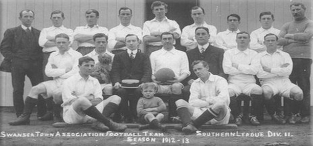 picture of first ever Swansea Town team