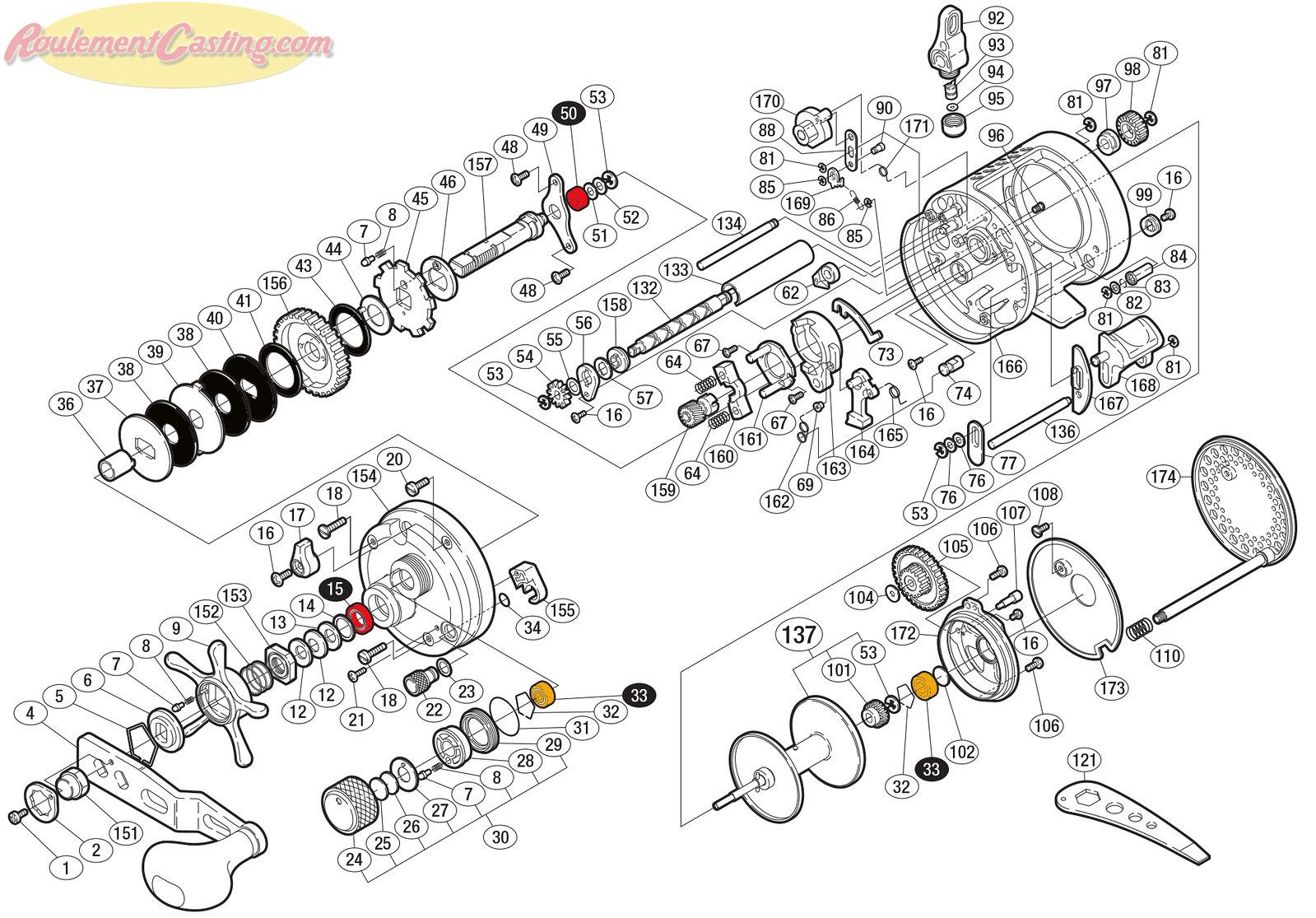 Schéma Shimano Conquest 04' 1001F