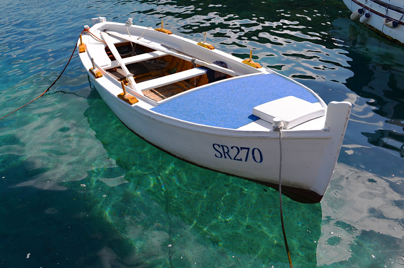 Floating fishing boat, Pomena, Mljet, Croatia