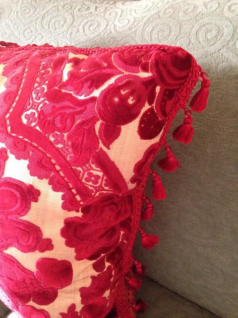 close up of pillow