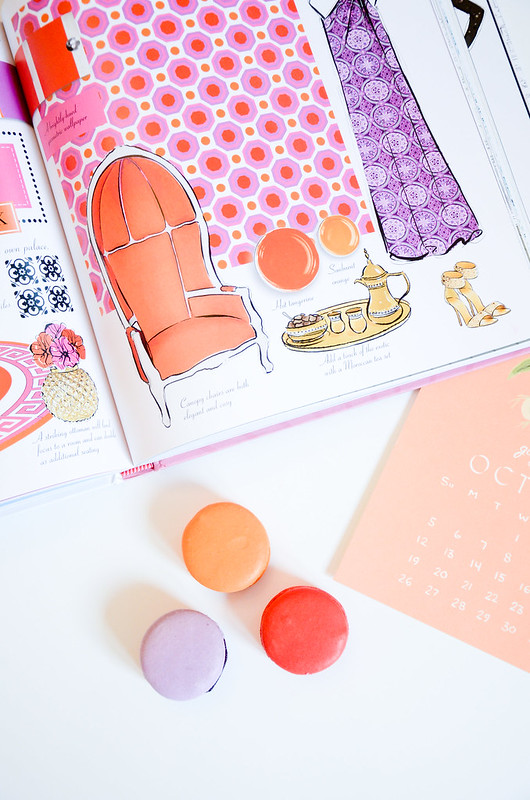 colorful pretty things macarons and perfumes