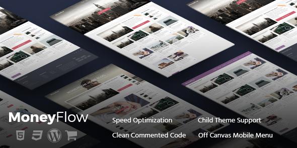 MoneyFlow v.1.1.7 – Modern and Professional WordPress Blog Theme