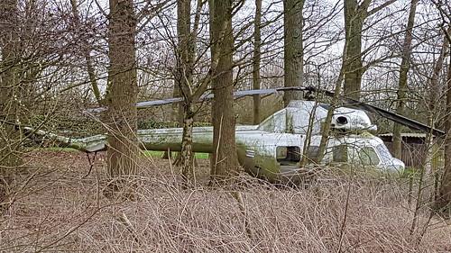 Mil Mi.2 c/n 562640112 registration SP-FSO preserved in the back of a garden in Zwarte Ruiter, Belgium