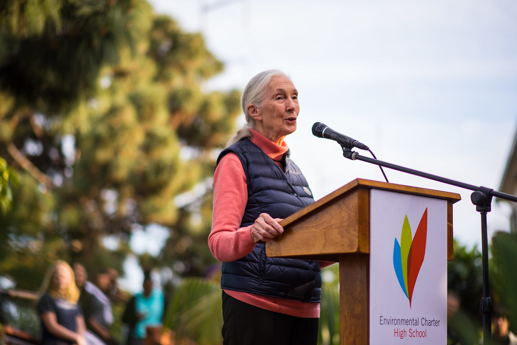 Dr. Jane Goodall at Lawndale Environmental Charter HS