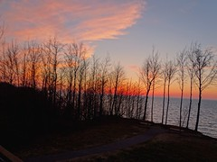 From the observation tower at Lake Erie Bluffs Tuesday night