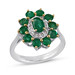 "Natural Diamond & Emerald Studded in Silver Wedding Ring Precious Jewelry By ""Emeralds Bazar"" by Emeralds Bazar"