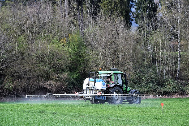 Tractor spreading fertiliser 31.03 (1)
